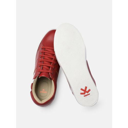 WROGN Men Red Printed Sneakers