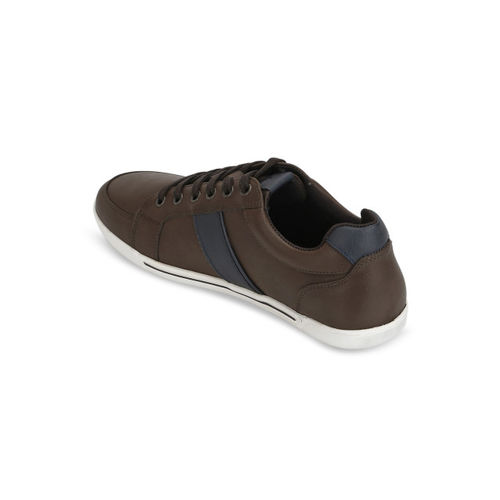 Red Tape Men Coffee Brown & Blue Colourblocked Sneakers
