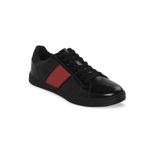 Bond Street By Red Tape Men Black & Red Colourblocked Sneakers