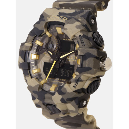 Roadster Men Olive Green & Grey Camouflage Print Analogue and Digital Watch MFB-PN-SM-8001