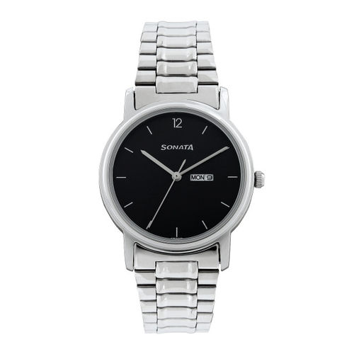 Sonata Men Black Dial Watch NC1013SM04