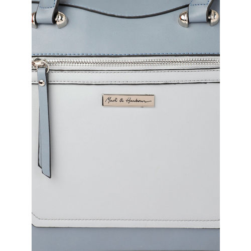 Mast & Harbour Blue Colourblocked Shoulder Bag