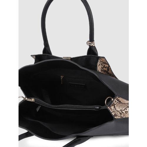 Accessorize Black Solid Handheld Bag