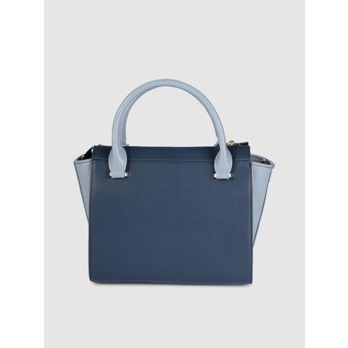Allen Solly Blue Solid Handheld Bag