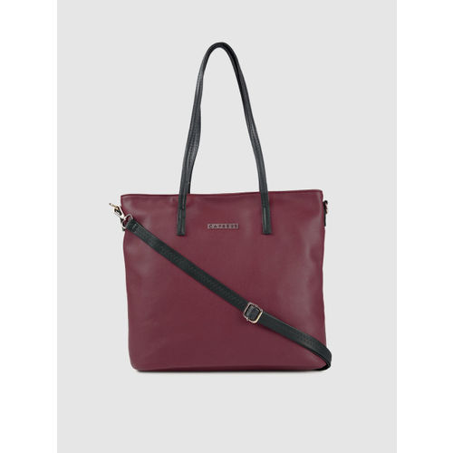 Caprese Burgundy Solid Shoulder Bag