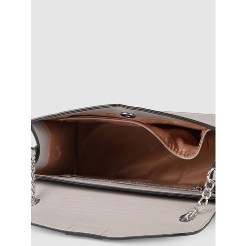Allen Solly Grey Solid Handheld Bag