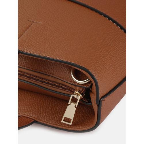 Mast & Harbour Rust Orange Solid Shoulder Bag