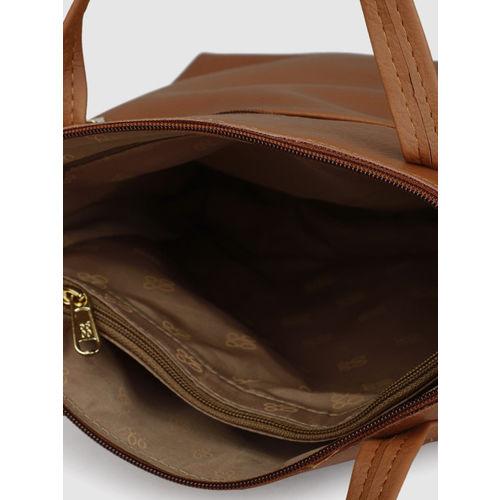 Baggit Tan Brown Solid Handheld Bag