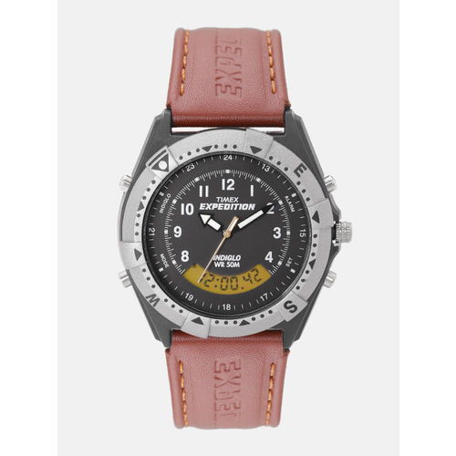 Timex Men Charcoal Grey Analogue and Digital Watch TW00MF102