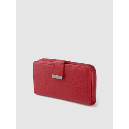 DressBerry Women Red Solid Two Fold Wallet