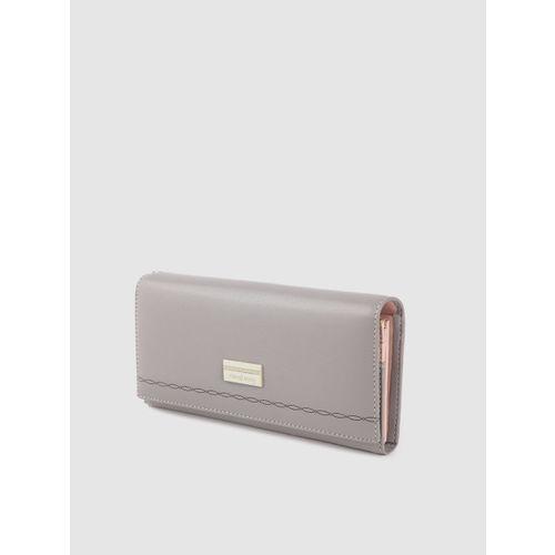 DressBerry Women Grey Solid Two Fold Wallet