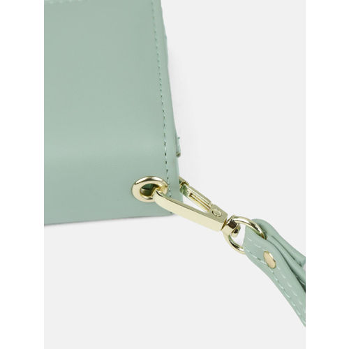 DressBerry Women Mint Green Solid Two Fold Wallet