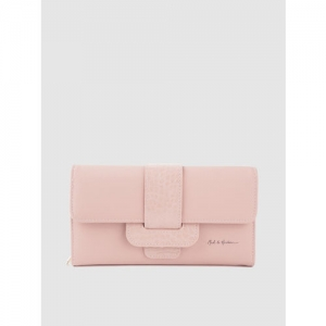 Mast & Harbour Women Pink Solid Three Fold Wallet