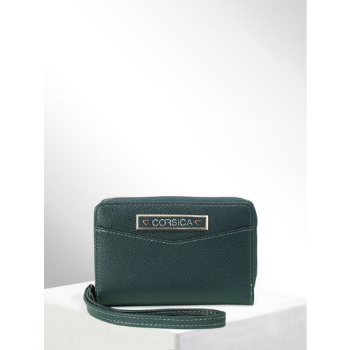 CORSICA Women Green Solid Two Fold Wallet