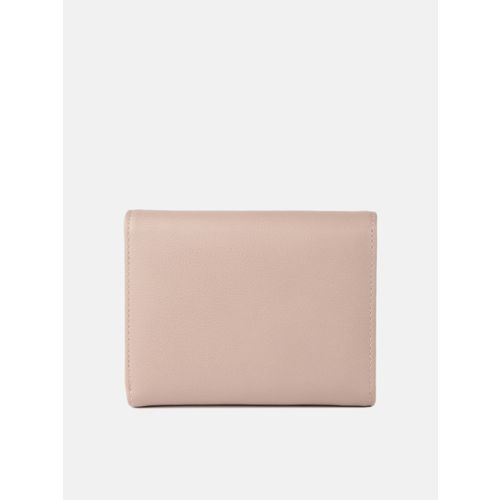 DressBerry Women skin Pink Solid Three Fold Wallet