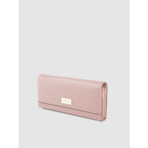 DressBerry Women Dusty Pink Solid Two Fold Wallet