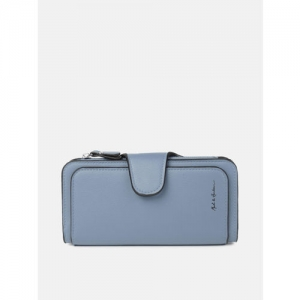 Mast & Harbour Women Blue Solid Two Fold Wallet