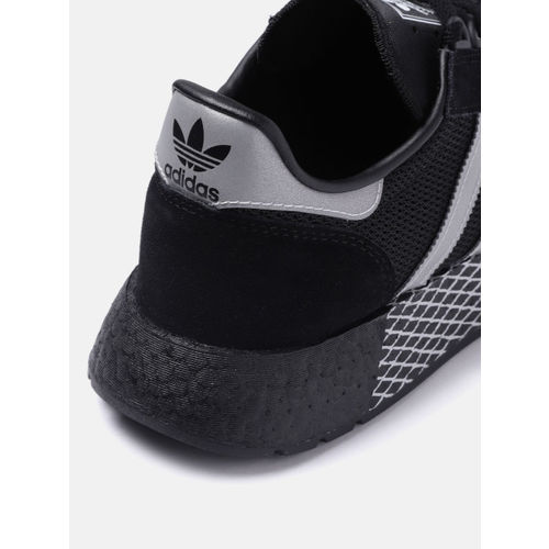 ADIDAS Originals Unisex Black & Silver-Toned Marathon Tech Sneakers