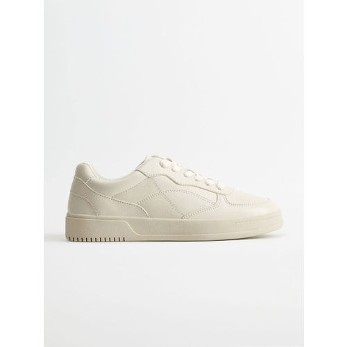 MANGO Women White Solid Sneakers