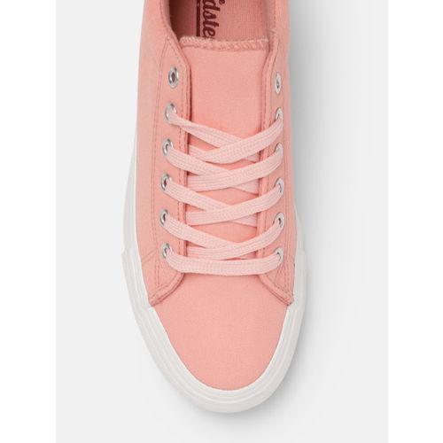 Roadster Women Pink Solid Sneakers