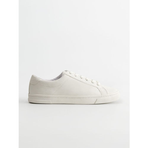 MANGO Women White Solid Sneakers