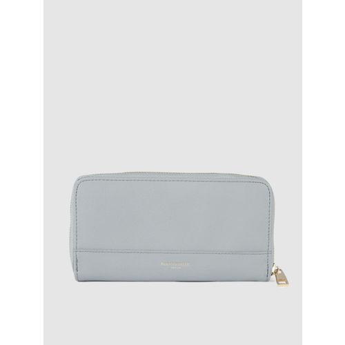 Accessorize Women Blue Solid Zip Around Wallet