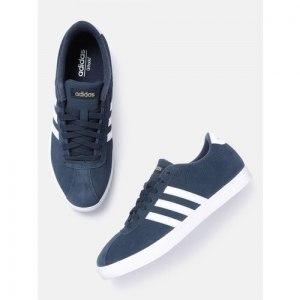 ADIDAS Women Navy Blue Courtset Suede Sneakers