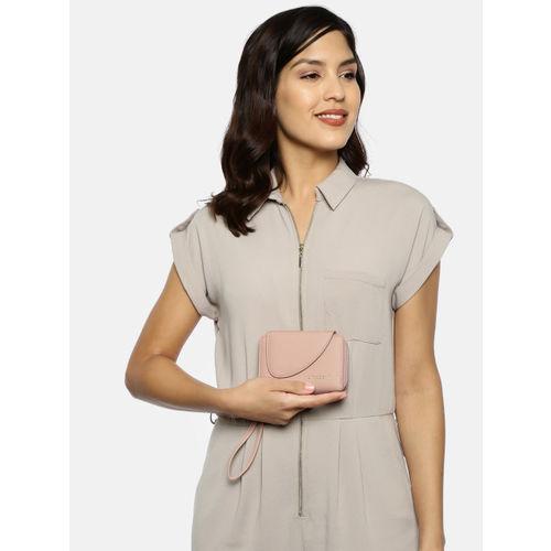 DressBerry Women Pink Solid Zip Around Wallet