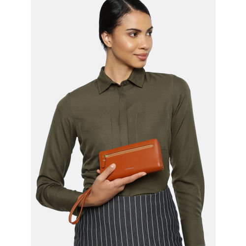 CORSICA Women Tan Brown Solid Two Fold Wallet