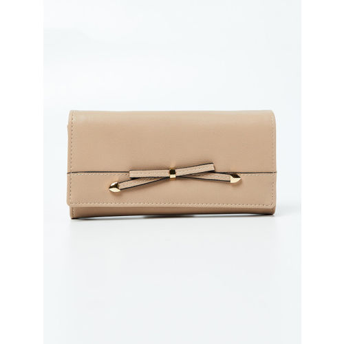 Ginger by Lifestyle Women Beige Solid Two Fold Wallet