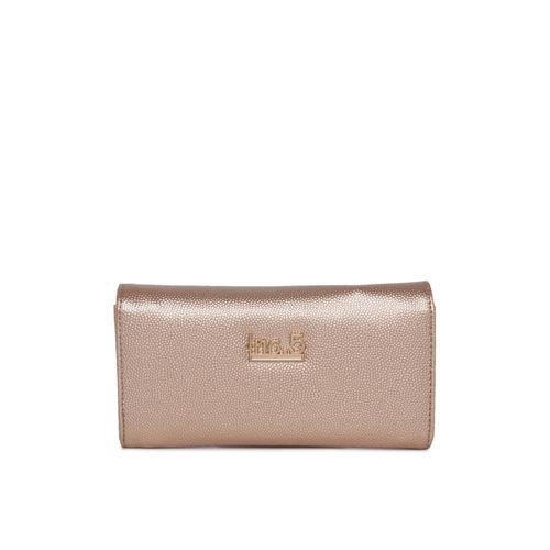 Inc 5 Women Champagne Textured Three Fold Wallet