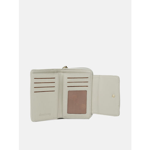 DressBerry Women Grey Quilted Zip Around Wallet
