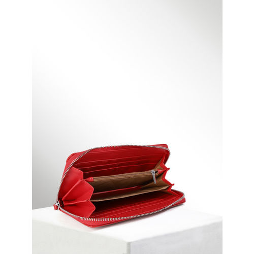 CORSICA Women Red Solid Zip Around Wallet