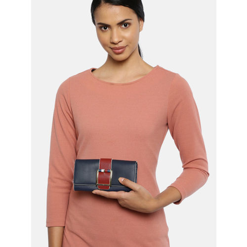 Tommy Hilfiger Women Navy Blue Solid Two Fold Wallet