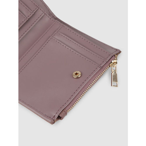 Caprese Women Mauve Solid ROBYN Two Fold Wallet