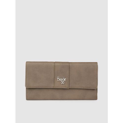 Baggit Women Brown Solid Three Fold Wallet