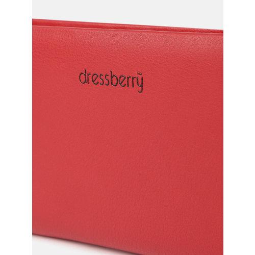 DressBerry Women Red Solid Zip Around Wallet