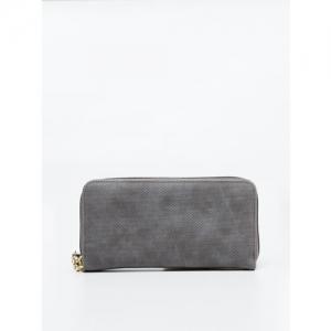 Ginger by Lifestyle Women Grey Textured Zip Around Wallet