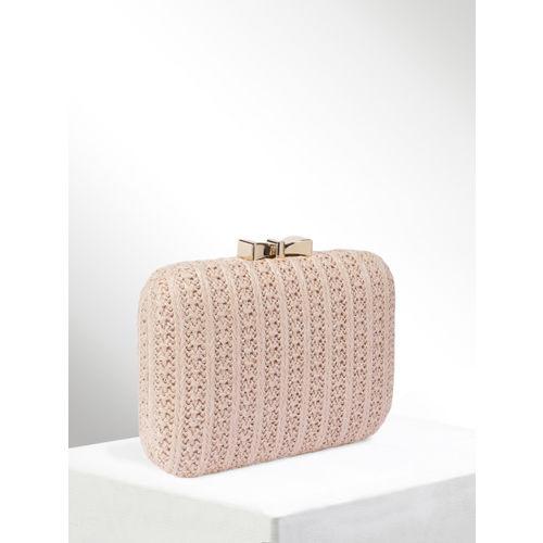 CORSICA Pink Textured Clutch