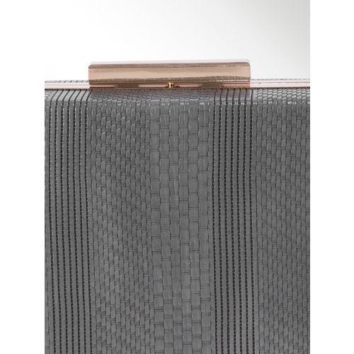 CORSICA Grey Textured Box Clutch