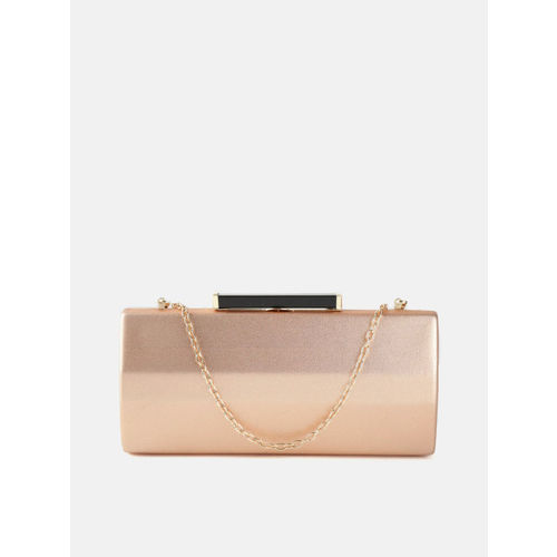 DressBerry Rose Gold-Toned Solid Box Clutch