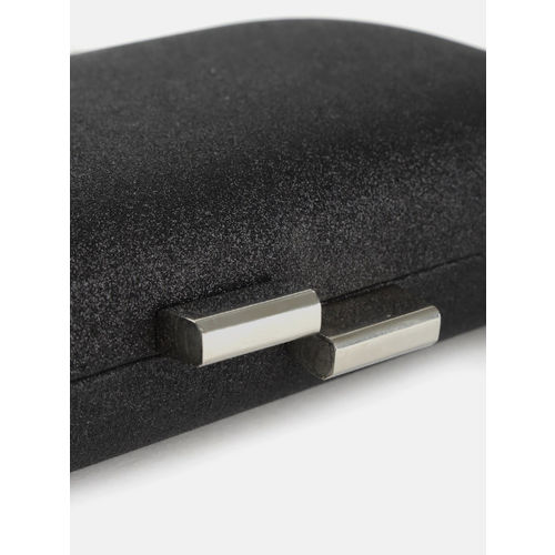DressBerry Charcoal Grey Solid Box Clutch