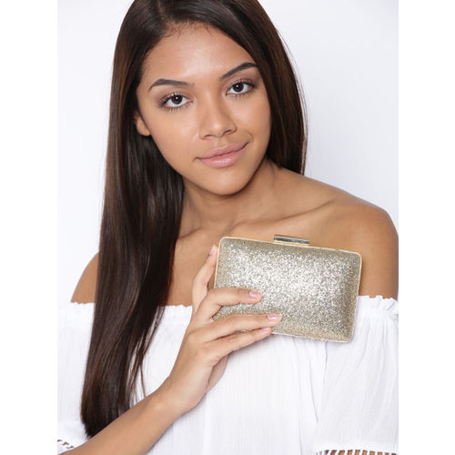 Lisa Hayden for Lino Perros Gold-Toned Shimmer Box Clutch