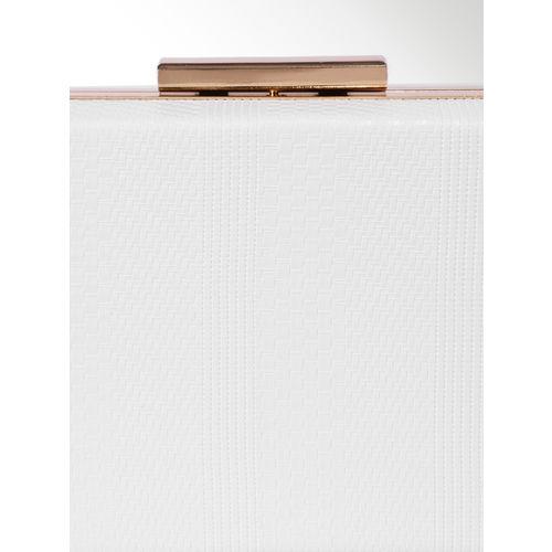 CORSICA White Textured Clutch