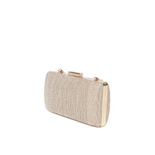 Anouk Gold-Toned Textured Clutch