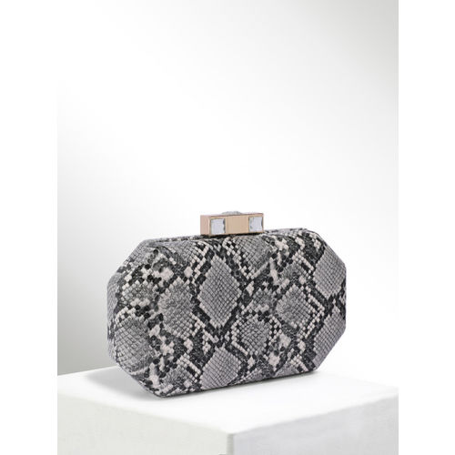 CORSICA Grey & White Textured Clutch