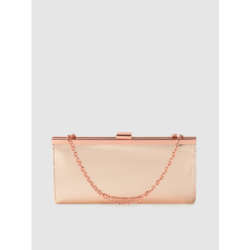 Lino Perros Rose Gold-Toned Solid Purse Clutch