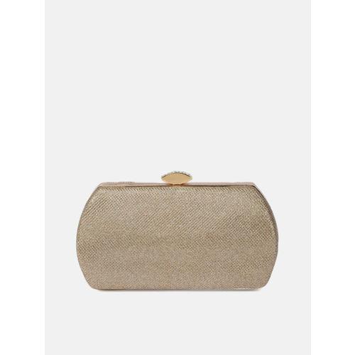 Anouk Gold-Toned Embellished Box Clutch