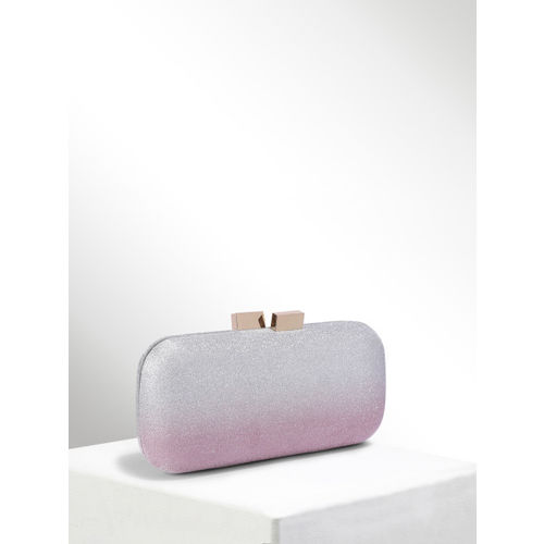 CORSICA Pink & Silver-Toned Embellished Box Clutch