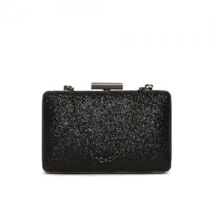 Lisa Hayden for Lino Perros Black Shimmer Box Clutch